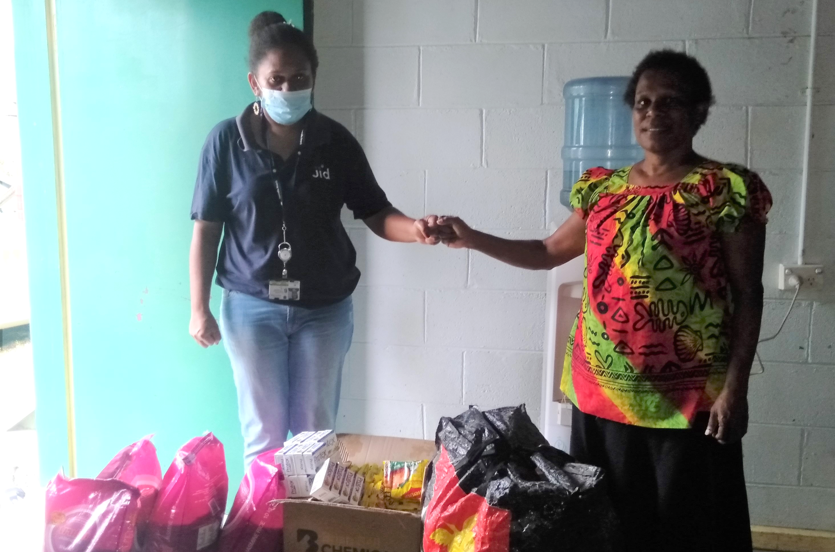 JID supports Haus Clare with donation of food and clothing